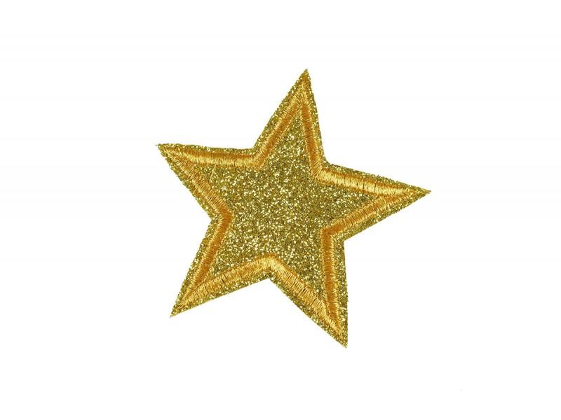 gouden ster patch glitter