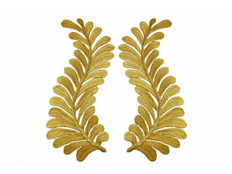gouden varen patch set XL 18,5x9cm