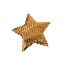 goudkleurige ster patch pailletten 15 cm