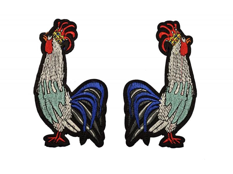 grote hanen patch set links en rechts