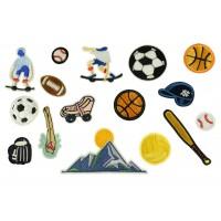 grote sport patch set 16 stuks