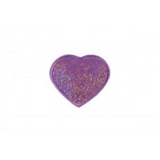 hart patch lila fijne pailletten
