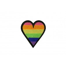 hart patch regenboog 6 x 5 cm