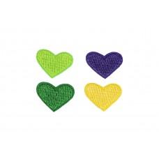 hartjes applicatie set groen paars geel