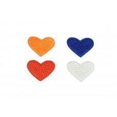 hartjes applicatie set rood wit blauw oranje