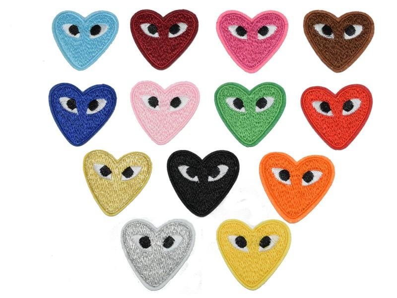 hartjes met ogen patch keuze uit 13 kleuren