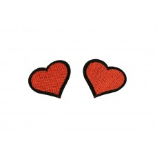 hartjes patch rood 2 stuks 4x4,8cm