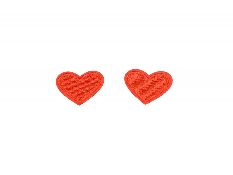 hartjes patch rood 2 stuks