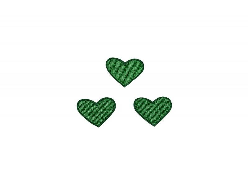 hartjes patch set donker groen 3 stuks