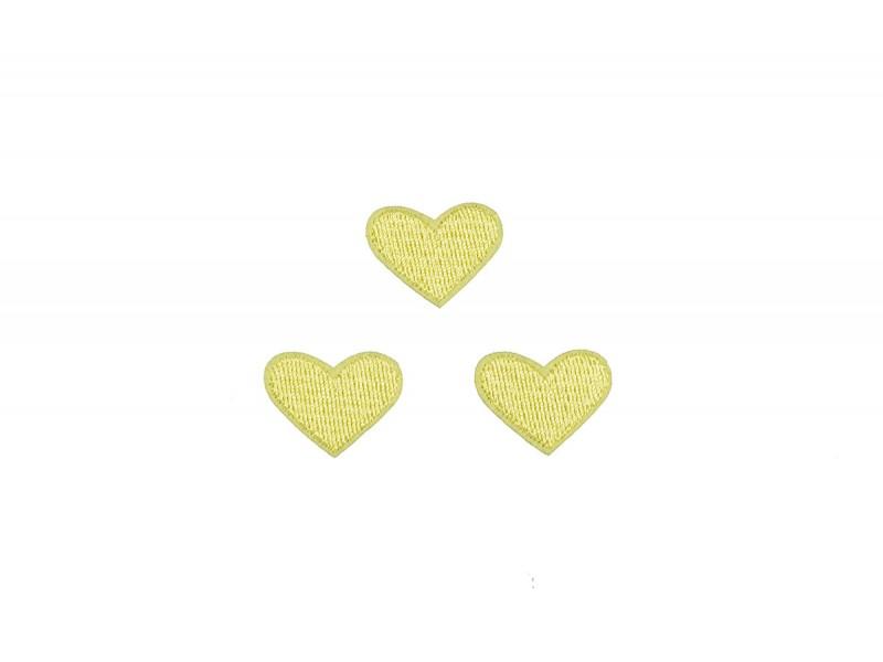 hartjes patch set licht geel 3 stuks