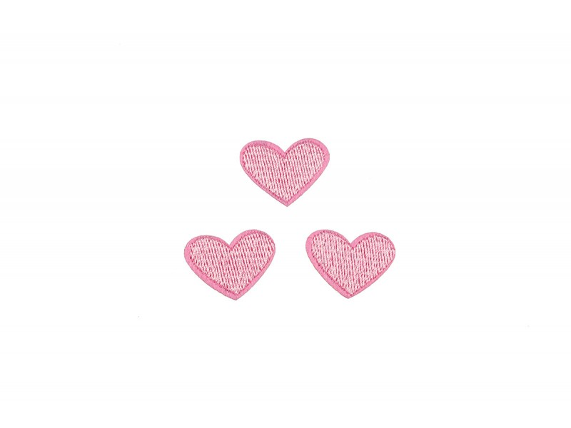 hartjes patch set licht roze 3 stuks