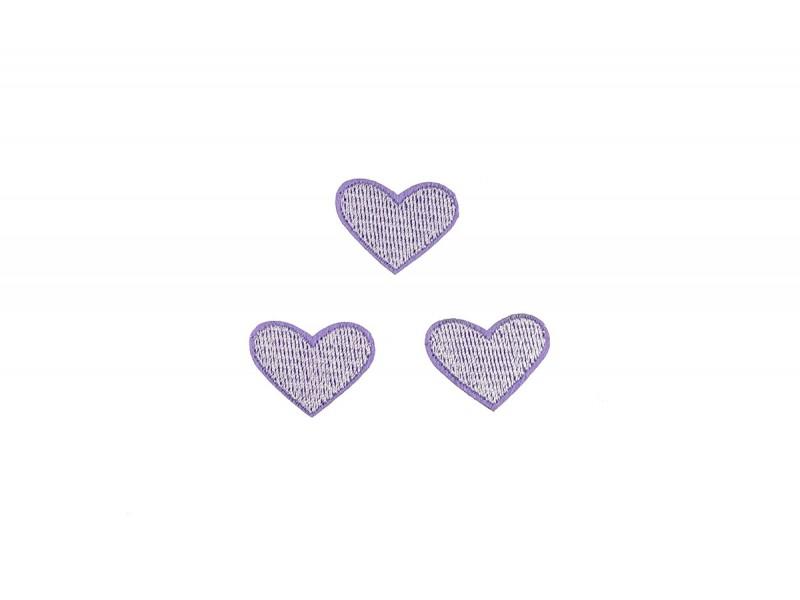 hartjes patch set lila 3 stuks