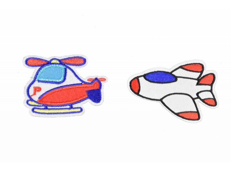 helicopter vliegtuig patch set