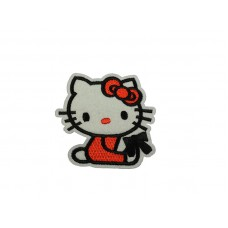 hello kitty patch rood