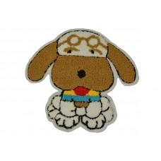 hond applicatie badstof opstrijkbaar 18 x 17 cm