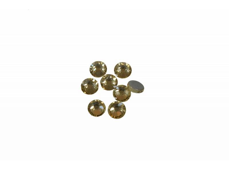 hot-fix steentjes crystal licht goud  SS16 hoge kwaliteit (144 stuks)