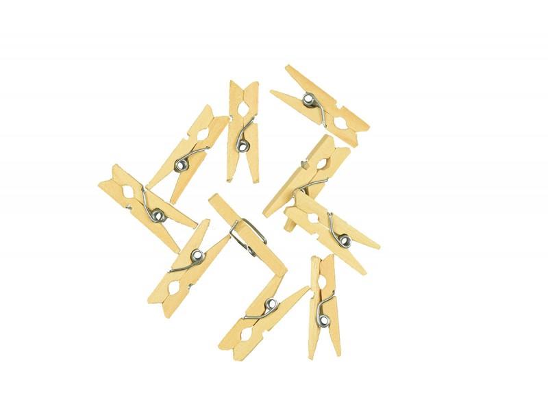 houten mini knijpers 25 stuks