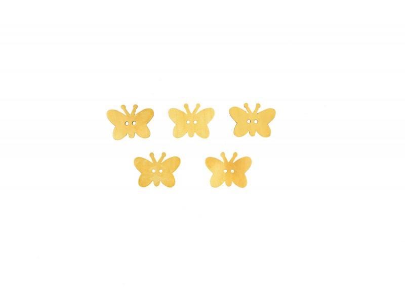 houten vlinderknoop 5 stuks