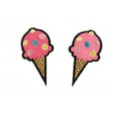ijsje roze patch 2 stuks