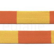 judo band 4 cm geel oranje