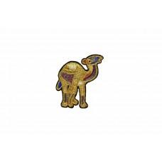 kameel patch goud geborduurd