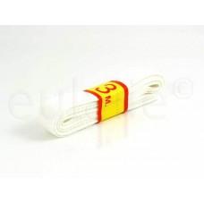 keperband 1.5 cm breed wit
