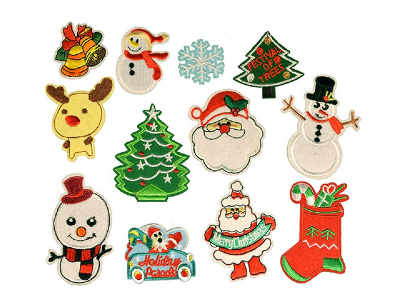 kerst set 12  patches