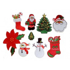 kerst set 9 patches