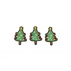 kerstboompjes patch 3 stuks