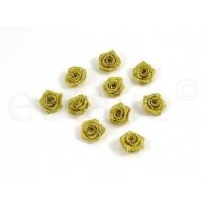 kleine roosjes goud (10 stuks)