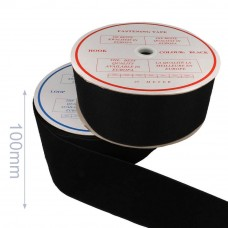 klittenband naaibaar haak en lus 100mm zwart per 50cm