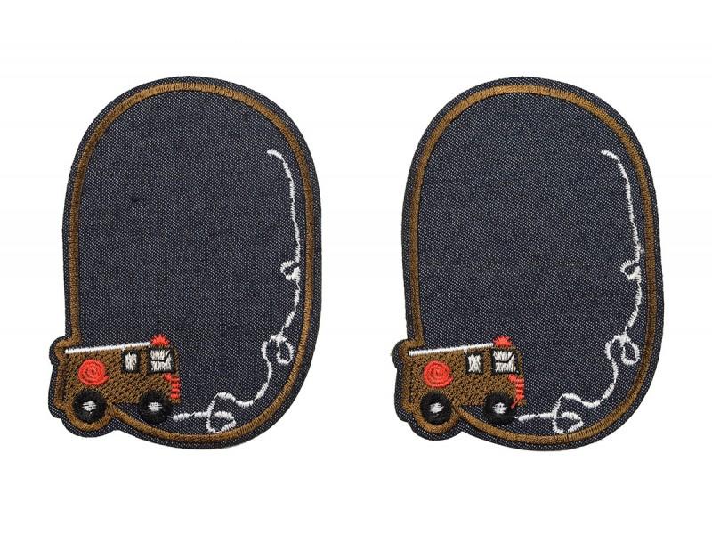 kniestukken set jeans brandweerauto