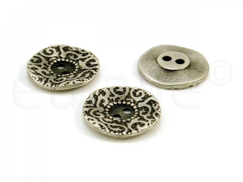 knoop Jugendstil zilver 2.3cm