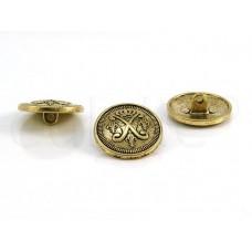 knoop wapen goud 2.3cm