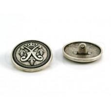 knoop wapen zilver 2.8cm