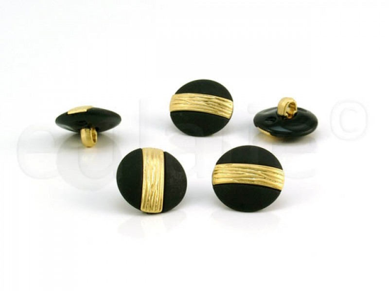 knoop zwart goud 1.8cm