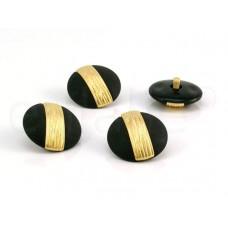 knoop zwart goud 2.5cm