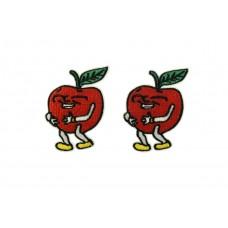lachende appel patch 2 stuks