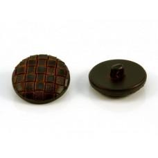 leatherlook knoop 2.8 cm