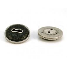 leatherlook knoop zwart 3.8 cm