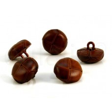 lederen knoop bruin 1.5 cm