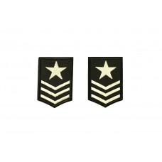 leger rang epauletten opstrijkbaar zwart 2 stuks