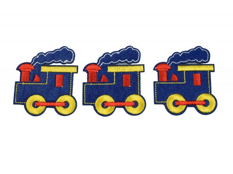 locomotief patch set 3 stuks opstrijkbaar