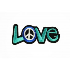 love and peace patch