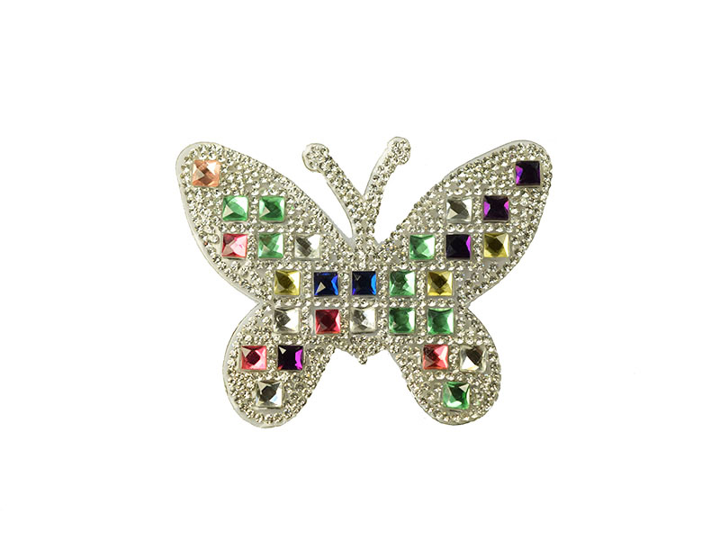 luxe applicatie vlinder strass
