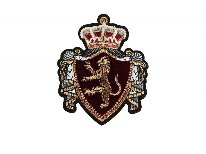luxe fluwelen embleem applicatie donkerrood