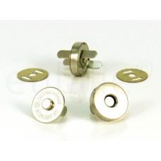 magneetsluiting 1.8 cm zilver en goud