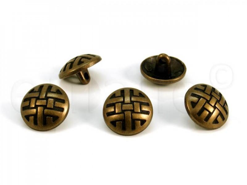 metalen bolvormige knoop 1.5 cm