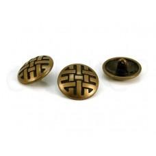 metalen bolvormige knoop 2 cm