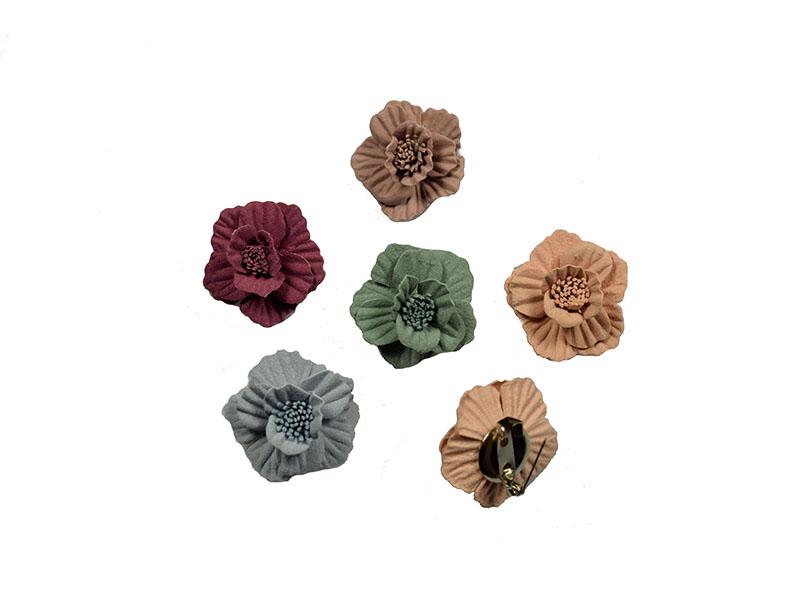 mini corsages set 5 stuks pastelkleuren